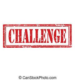 Challenge-stamp - Grunge rubber stamp with word Challenge, ...
