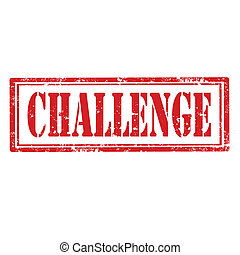 Challenge-stamp - Grunge rubber stamp with word...