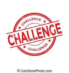 Challenge stamp illustration isolated on white background.