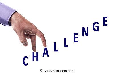 Challenge word - Male fingers climb challenge word