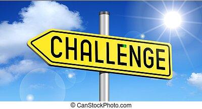 Challenge - yellow road sign