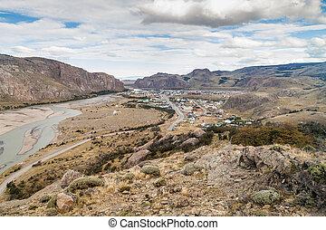 chalten, el, argentina, aldea