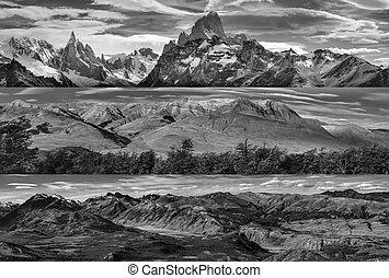 chalten, el, paisajes, panorámico