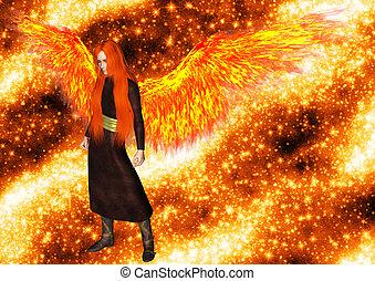 chama, anjo