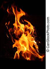 chama, fogueria