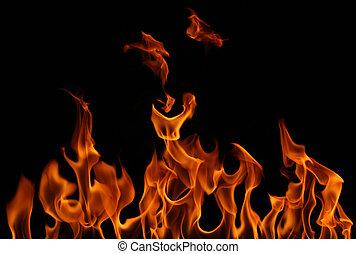 chama, queimadura