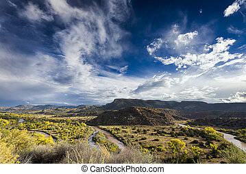 Chama River Overlook - Late afternoon view of the Chama...