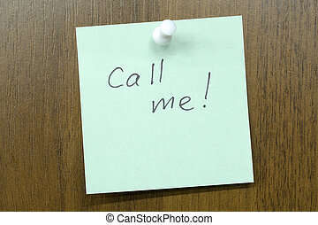 chamada, mim