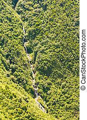 Chamana Waterfall Aerial Shot