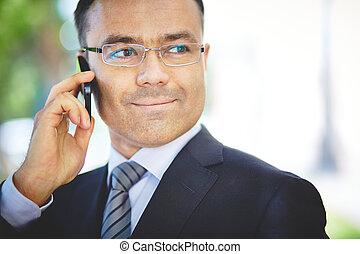 chamando, um, colega