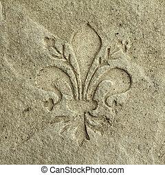 chamarra, piedra, grabado, florencia, brazos