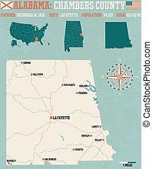 Chambers County in Alabama USA
