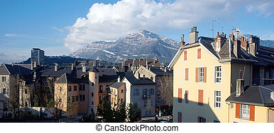 Chambery city in Savoy, France