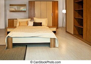 chambre à coucher, bois