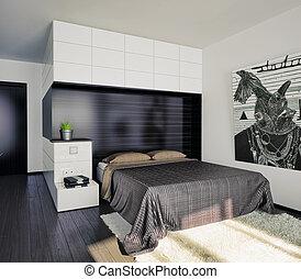 chambre à coucher, intérieur