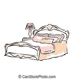 chambre à coucher, interior.