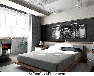 chambre à coucher, matin