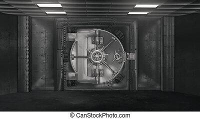 chambre forte banque, et, ouverture, sûr, à, alpha, chanel