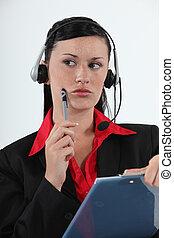 chame centro, agente, considerando, dela, opções
