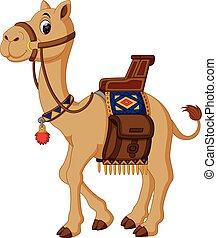 chameau, dessin animé, mignon