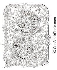 Chameleon adult coloring page, lovely chameleon buddies on...