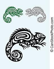 Chameleon art vector picture