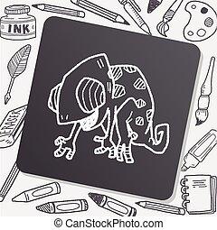 chameleon doodle