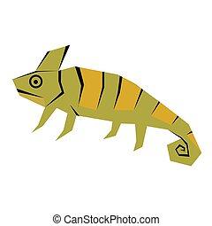 chameleon flat illustration