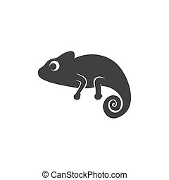 Chameleon icon design template vector isolated illustration