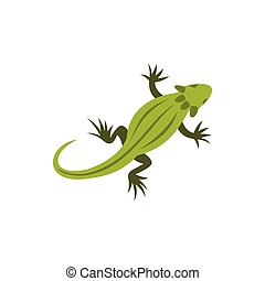 Chameleon icon in flat style