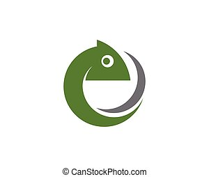 chameleon icon silhouette vector