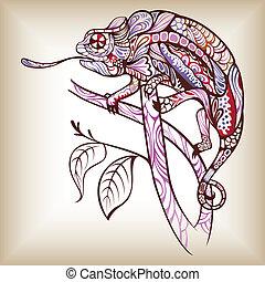 Chameleon - Illustration of abstract design chameleon.