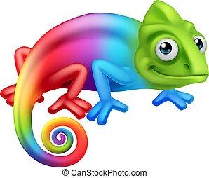 Chameleon Lizard Cartoon Character - A chameleon lizard ...