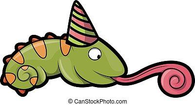 chameleon using birthday party