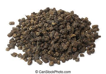 Chamerion angustifolium, fermented ivan tea on white background