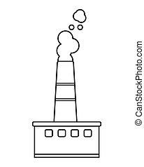 chaminé fábrica, ícone