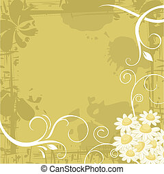 Chamomile Background - Grunge chamomile background with ...