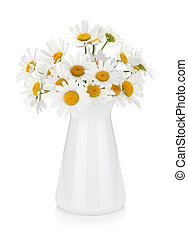 Chamomile bouquet in vase