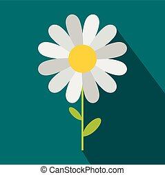Chamomile icon in flat style