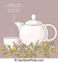 chamomile tea illustration