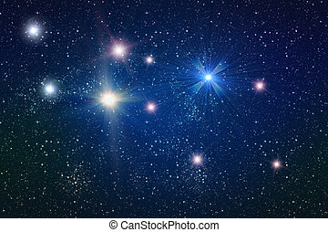 champ, étoile, fond