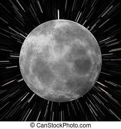 champ, étoile, lune