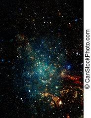 champ, étoile, nebulae, espace