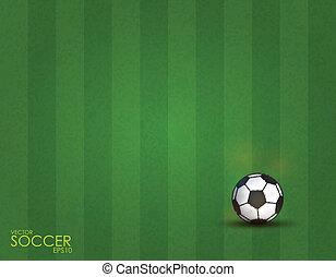 champ, boule football, fond