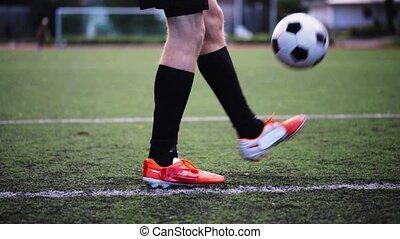 champ, boule football, jouer, joueur