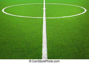 champ, football football, centre, ou