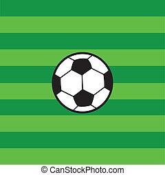 champ, football, football vert