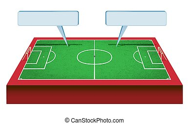champ, football, perspectic, vue