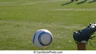 champ, football, pratiquer, 4k, joueurs
