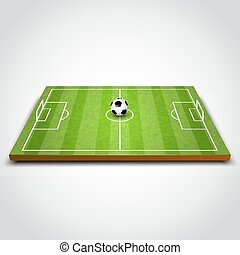 champ football, vert, football, ou, ball.